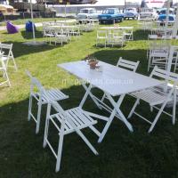 Прокат уличных столов и стульев для мероприятий