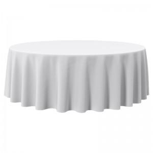 Скатерть на круглый стол белая