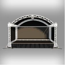 Сцена с арочной крышей