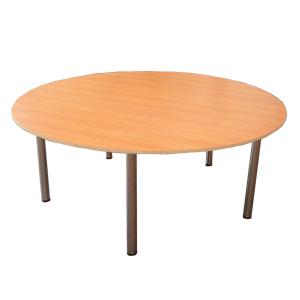 Прокат круглого стола на хром ногах