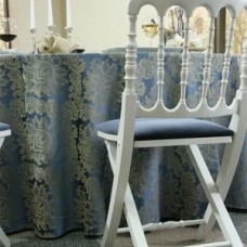 Скатерть на круглый стол синяя