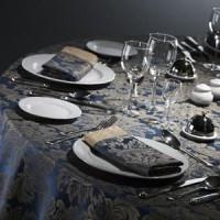 Скатерть на круглый стол (синяя)