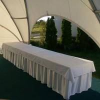 Белая скатерть на прямоугольный стол