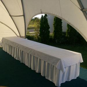 Белая юбка на стол