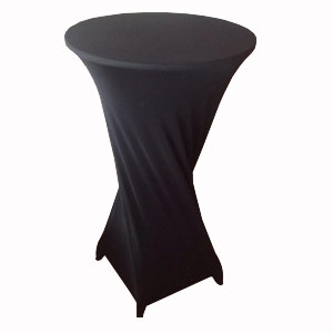 Черный чехол на барный стол